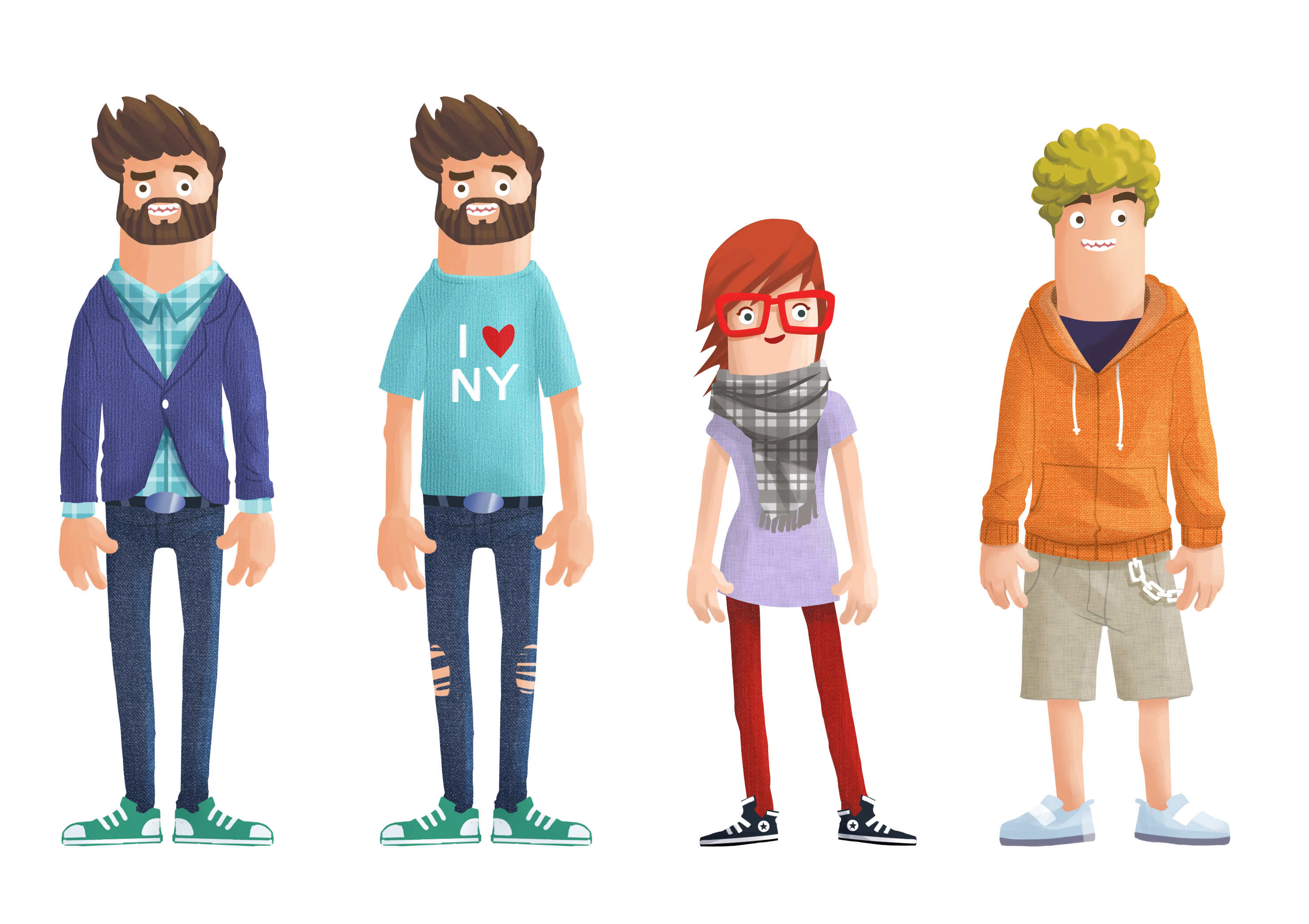 Character Design Agency : Character design polyester studio